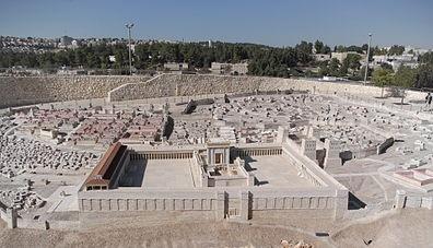 Modell av det 2:a judiska templet i Jerusalem