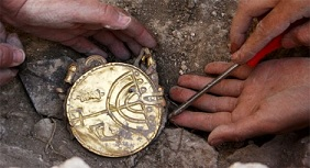 Jerusalems arkeologi ger ibland en guldkantad tillvaro... på bilden syns en del av Ofels skatt