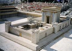Modell av 2:a Templet vilket Herodes den store lät renovera