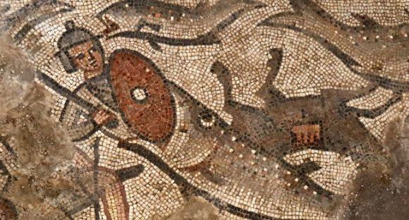 Mosaik av Jona och valen från 400-talet