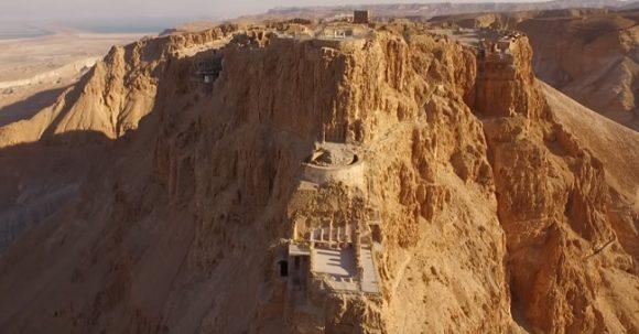 Masada från en drönare