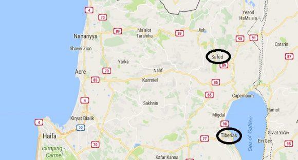 Video: Safeds och Tiberias historia